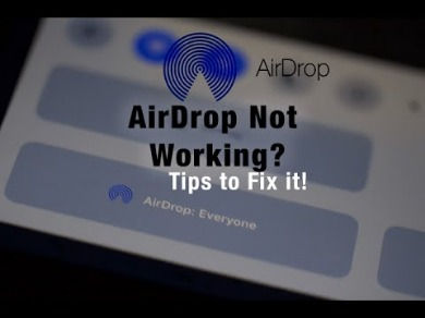 why is airdrop not working